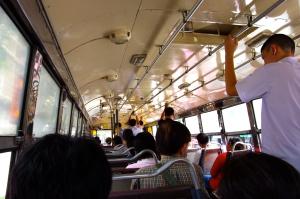 taking the bus in bangkok